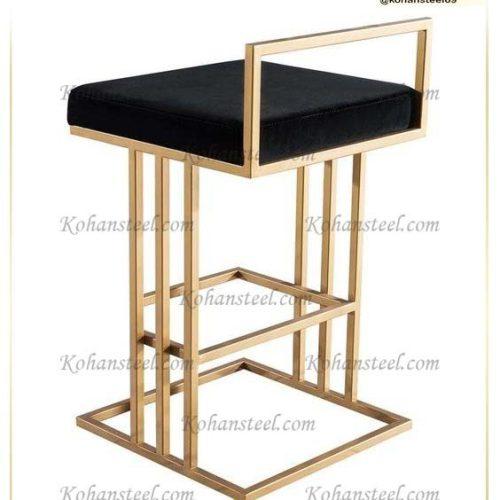 صندلی طلایی استیل
